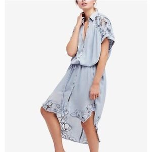 Free People Cut it Out Embroidered Size S NWT